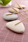 Stones and incense Stock Photo