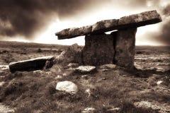 Stones, Ireland. Poulnabrone Dolmen, Burren, Ireland, Europe stock images