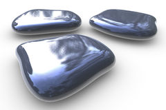 Stones isolated on white Royalty Free Stock Photos