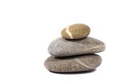 Stones isolated on white stock images