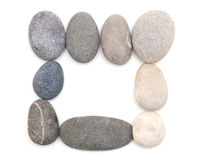 Stones isolated on white background Stock Images