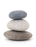 Stones isolated on white background Stock Photos