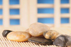 Stones in japanese setting Stock Photos