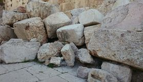 Stones, Jerusalem Archaeological Park Royalty Free Stock Photo