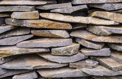 The stones are laid on each other. Royalty Free Stock Photo