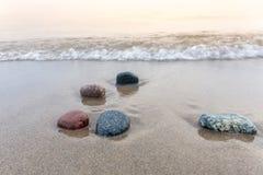 Stones on a Lake Huron Beach - Grand Bend, Ontario Stock Photos