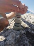 Stones at the Lake stock photo