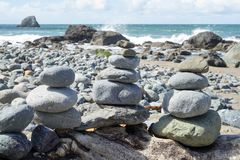 Stones in Lands End, San Francisco. The view in spring in Lands End, San Francisco, CA, U.S royalty free stock image