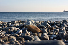 Stones. Landscape with rocks and sand, on a sunny day with clear sky Stock Images