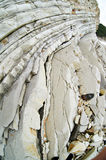 Stones of limestone rock on the coast Royalty Free Stock Images