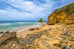 The stones of limestone Step Beach, Great Ocean Road Royalty Free Stock Image