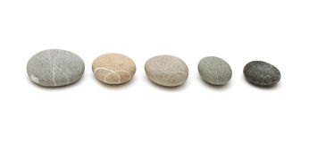 Stones in line Royalty Free Stock Photo