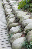 Stones. Lots of stones arranged as lines Royalty Free Stock Photos