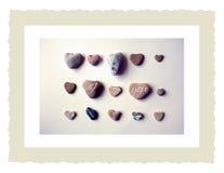 Stones love card. Heart shaped stones love card Stock Photo