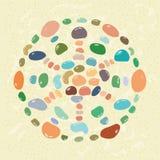Stones mandala sand Stock Images