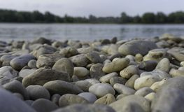 Stones. Many Stones at the Danube Royalty Free Stock Photography