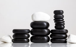 Stones massage. Spa salon massage stones for the treatment of spins royalty free stock photo