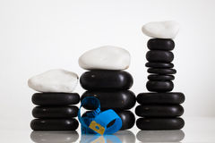 Stones massage. Spa salon massage stones for the treatment of spins stock photo