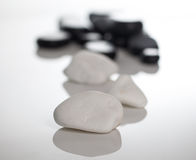 Stones massage. Spa salon massage stones for the treatment of spins stock photography