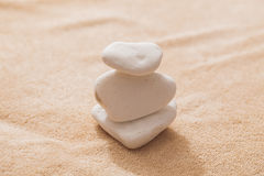 Stones massage. Spa salon massage stones for the treatment of spins stock images