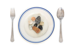Stones meal Royalty Free Stock Photography
