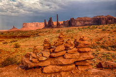 Stones at Monument Valley Royalty Free Stock Photography