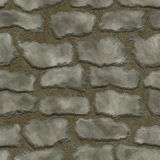 Stones in mortar seamless background Stock Photography