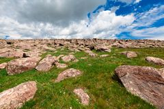 Stones on Mount Aragats, Armenia Stock Image