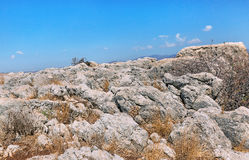 Stones on Mount Arbel. In Israel Stock Photos