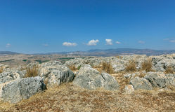 Stones on Mount Arbel. In Israel Royalty Free Stock Image
