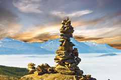 Stones and mountain landscape, Norway Royalty Free Stock Photography
