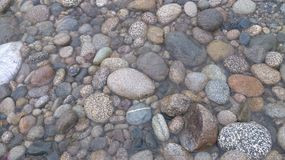 Stones. In nature everything is placed at its own level and accoording to their need. so is the case of these beautiful stones found on the sides of river Stock Image