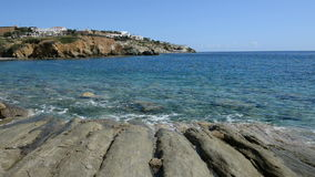 The stones near beach at luxury hotel. Crete, Greece stock footage