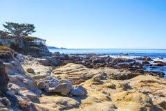 Stones ocean beach Royalty Free Stock Photos