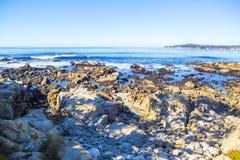 Stones ocean beach Stock Image