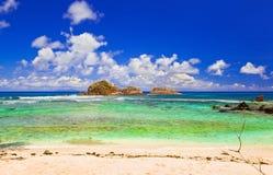 Stones at ocean at Seychelles Royalty Free Stock Photography