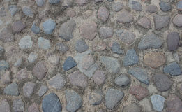 Stones old pavement Royalty Free Stock Photography