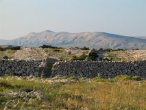Stones on the Pag Royalty Free Stock Photo