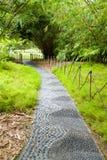 stones pathway in Singapore Botanical garden Stock Photo