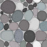 Stones pattern. Different stones seamless grey pattern Royalty Free Stock Image