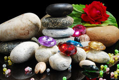 Stones & pearls Royalty Free Stock Photos