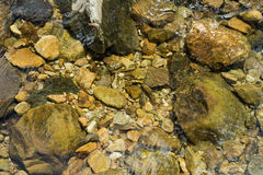 Stones and pebbles under water Stock Photo