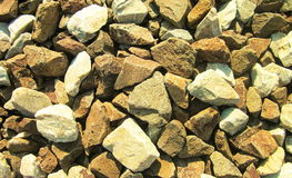 Stones. Photography of stones on railroad track Royalty Free Stock Photo