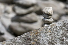 Stones. In a pile on the rock Royalty Free Stock Images