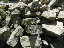 Stones. A pile of unattached stones on a sunny day Stock Photography