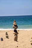 Stones piled on top of one another in Inuksuk fashion Stock Photography