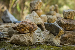 Stones pyramid. In deep mountain symbolizing zen Royalty Free Stock Photos