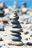 Stones pyramid  on Tenerife Island Stock Photos
