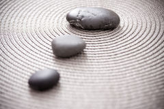 Stones representing zen, balance and meditation. Zen pile of stone, balance and meditation concepts Royalty Free Stock Photos