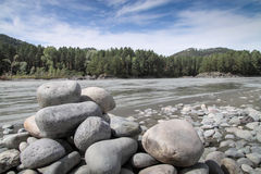 The stones on river Bank. The stones on the river Bank Royalty Free Stock Image